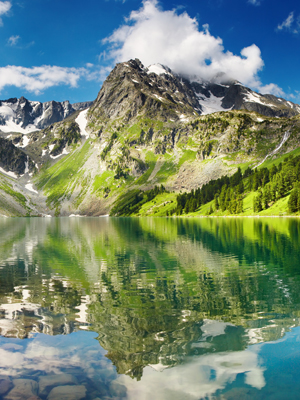 Wall Mural Mountains and Lakes